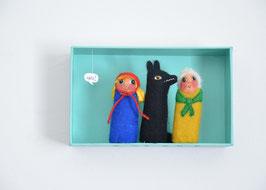 Fingerpuppenbox Rotkäppchen