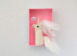 Fingerpuppe Einhorn in der Box *love