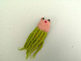 Fingerpuppe rosagrüner Oktopus