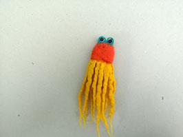 Fingerpuppe rotgelber Oktopus