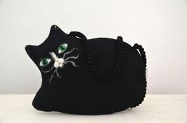 Umhängetasche schwarze Katze