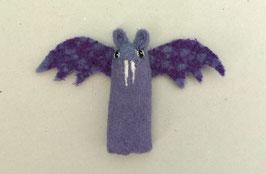 Fingerpuppe lila Fledermaus