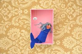 Fingerpuppe blaue Meerjungfrau mit Box *love!