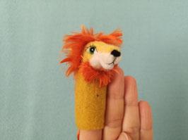 Fingerpuppe gelber Löwe