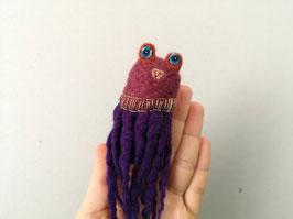 Fingerpuppe violetter Oktopus