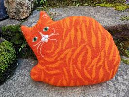 Kissen Katze orange getigert groß