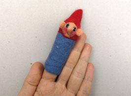 Fingerpuppe blauer Zwerg