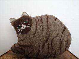 großes Kissen Katze braun getigert