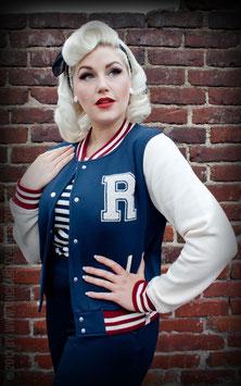 Rumble59 Female Collegejacke blau-weiss