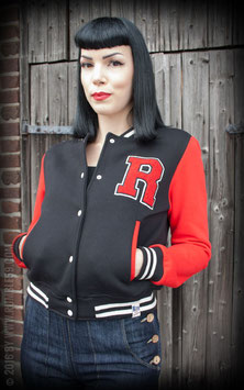 Rumble59 Female Collegejacke schwarz-rot