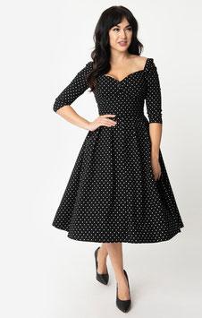 Unique Vintage Kleid Lamar schwarz-weiss