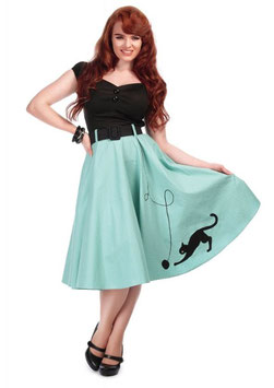 Collectif Jupe Kitty Cat mint