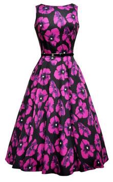 Lady Vintage Kleid Hepburn Violetta