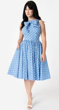 Unique Vintage Kleid Doheny blau