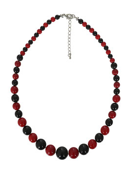 Collectif Halskette Natalie schwarz-dunkelrot