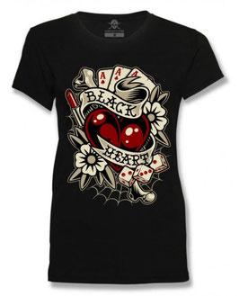 Black Heart Shirt Rockabilly Heart
