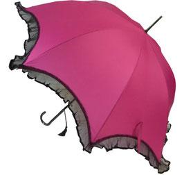 Scalloped-Schirm pink mit Rüschen