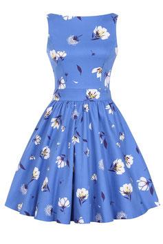Lady Vintage Kleid Tea Cobalt from the blue