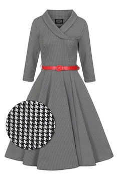 Hearts & Roses Kleid Ava Houndstooth