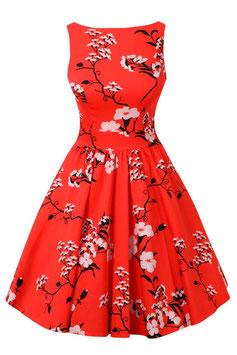 Lady Vintage Kleid Tea Crimson Tide