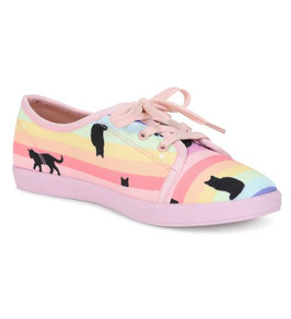 Lulu Hun Sneakers Grace Rainbow Cat