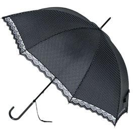 Soake Schirm schwarz mit Spitzen