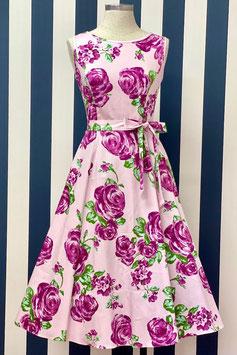 Lady Vintage Kleid Hepburn Violet Rose