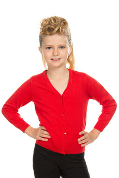 Hearts and Roses Cardigan Kids rot
