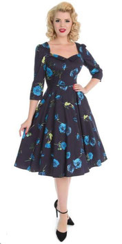 Hearts & Roses Kleid Blue Melody