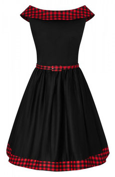 Dolly and Dotty Kleid Katie Karo schwarz-rot