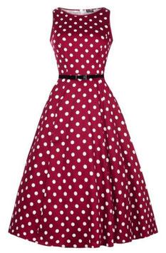 Lady Vintage Kleid Hepburn Vermillion