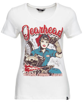 Queen Kerosin Shirt Gearhead weiss
