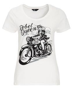 Queen Kerosin Shirt Rebel Queen weiss