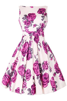Lady Vintage Kleid Tea Barely Pink