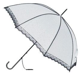 Soake Schirm weiss mit Spitzen