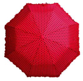Soake Taschenschirm rot Dots