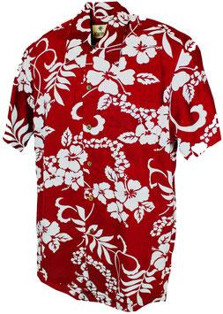 Karmakula Hawaiihemd Waikiki dunkelrot