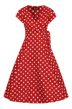 Lady Vintage Kleid Bella Red Polka Dot