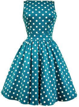 Lady Vintage Kleid Tea Jade Polka Dots