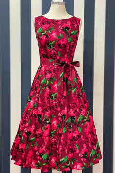 Lady Vintage Kleid Hepburn Red Floral