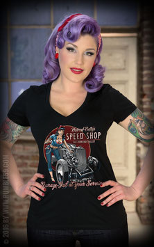 Rumble59 Shirt Betty's Speed Shop V-neck