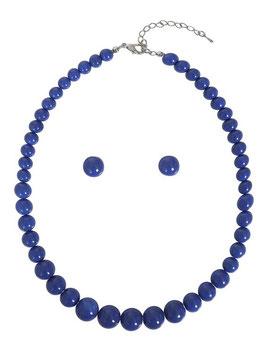 Collectif Halskette und Ohrstecker Natalie blau