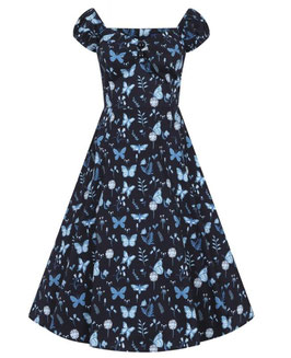 Collectif Kleid Dolores Midnight Butterfly