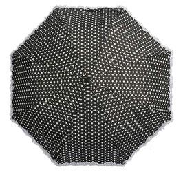 Soake Taschenschirm schwarz Dots