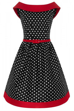 Dolly and Dotty Kleid Katie Dots schwarz-weiss-rot