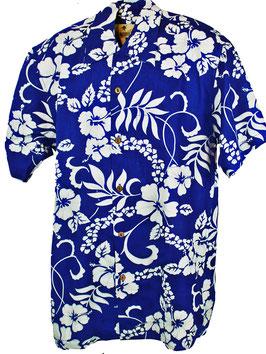 Karmakula Hawaiihemd Waikiki blau