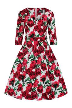 Lady Vintage Kleid Maria Red Flowers