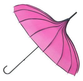 Soake Pagoda-Schirm pink gerippt