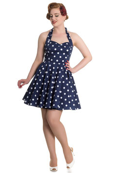 Hell Bunny Kleid Nicky Mini navyblau