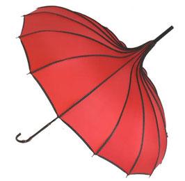 Soake Pagoda-Schirm rot gerippt